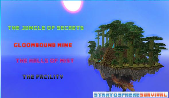 Stratosphere Survival Map для minecraft